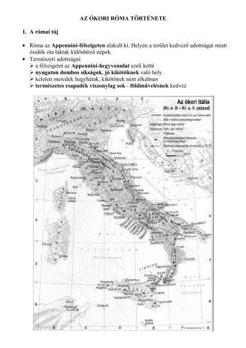 Az ókori Róma és a Római Birodalom története