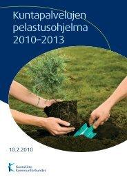 Kuntapalvelujen pelastusohjelma 2010–2013 - Kunnat.net
