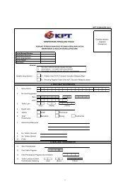 borang permohonan - Kementerian Pengajian Tinggi