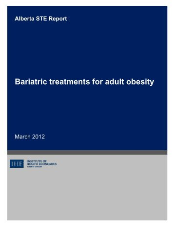 Bariatric treatments for adult obesity - Institute of Health Economics