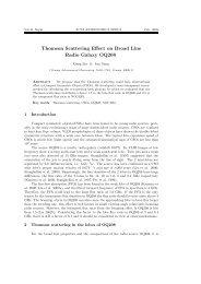 Thomson Scattering Effect on Broad Line Radio Galaxy OQ208