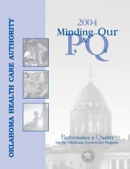 Minding Our Ps & Qs - Performance and Quality 2004