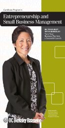 View and Print the Brochure - UC Berkeley Extension - University of ...