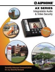AX Series Brochure - Aiphone