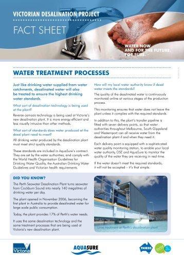 Water Treatment Fact Sheet - Aquasure
