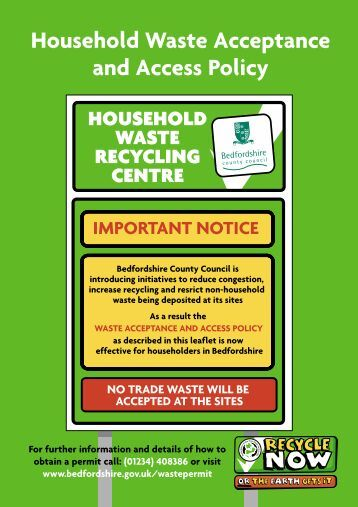 A5 waste Accept leaflet - 17/5 - Bedfordshire County Council