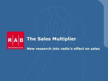 The Sales Multiplier