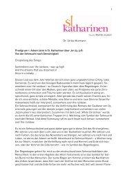 1 Dr. Ulrike Murmann Predigt am 1. Advent 2010 in St. Katharinen ...