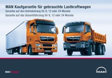 MAN Kaufgarantie für gebrauchte Lastkraftwagen - MAN TopUsed