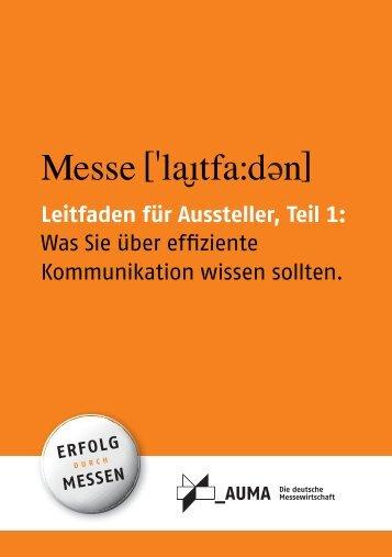 9114 Broschüre 2010 A5 rz - Erfolg durch Messen