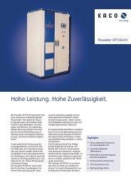 Hohe Leistung. Hohe Zuverlässigkeit. - System Sonne GmbH