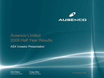 2009 Half Year Results Presentation - Ausenco