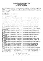 Pauta da 1ª CAJ dos dias 19 e 20/08/2013 E-recursos