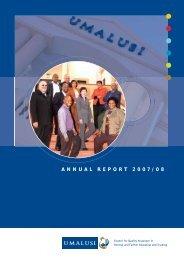 Annual Report 2007/2008 - Umalusi