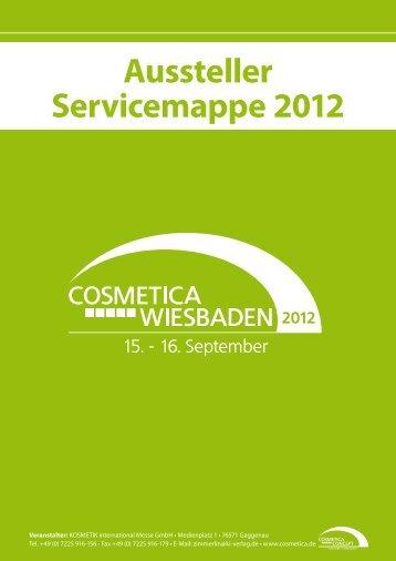 Aussteller-Servicemappe COSMETICA Wiesbaden