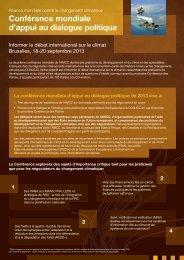 Conférence mondiale d'appui au dialogue politique - Global Climate ...