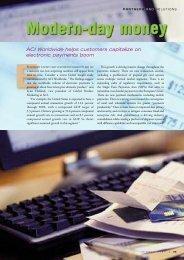ACI Worldwide helps customers capitalize on electronic payments ...
