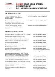 elenco delle leggi speciali per i dipendenti della ... - Il Sole 24 ORE