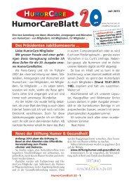 Download: HumorCareBlatt 20.pdf - HumorCare Schweiz