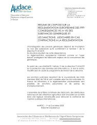 resume de l'expose sur la reglementation europeenne des ppp