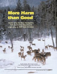 Harm Than Good - New Hampshire Fish and Game Department