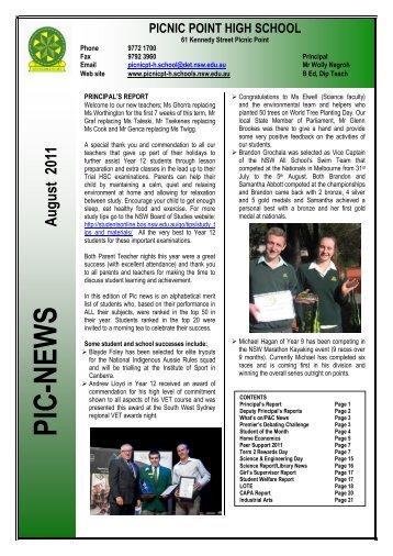 PRINCIPAL'S REPORT - Picnic Point High School