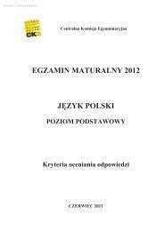 EGZAMIN MATURALNY 2012 JĘZYK POLSKI - Sqlmedia.pl