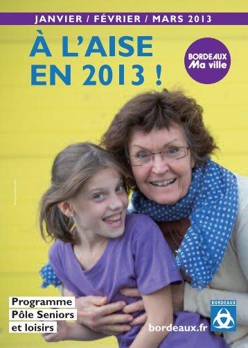 Programme Pôle Seniors et loisirs - Bordeaux