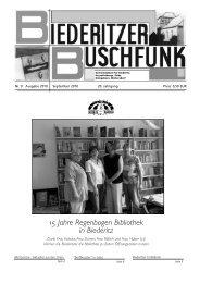 15 Jahre Regenbogen Bibliothek in Biederitz - Gemeinde Biederitz