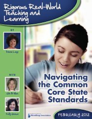 IRA on Common Core - Division of Language Arts/Reading