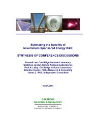 SYNTHESIS OF CONFERENCE DISCUSSIONS - Environmental ...