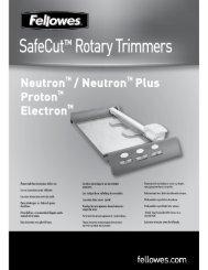 Manuel d'utilisation Neutron/Protron/Electron - Fellowes