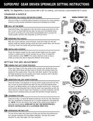 superpro™ gear driven sprinkler setting instructions - Irriga