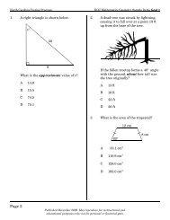 Geometry Goal 1 - Public Schools of North Carolina