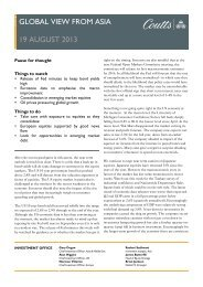 GLOBAL VIEW FROM ASIA 19 AUGUST 2013