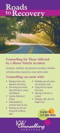Roads to Recovery - KW Counselling Services
