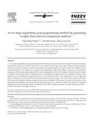 A two-stage logarithmic goal programming method for generating ...