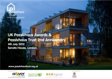 2012 Awards invitati.. - Passivhaus Trust
