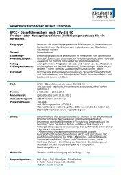 SPCC - Düsenführerschein nach ZTV-SIB 90 Trocken- oder ...