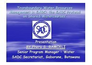 PRESENTATION AT The Transboundary WAter Conference ... - emwis