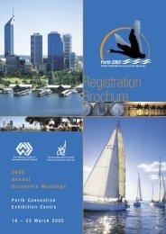 Registration Brochure - Australian and New Zealand Society of ...
