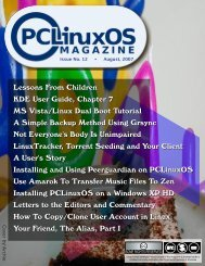 PCLinuxOS Magazine, Issue 12, August 2007 - From: ibiblio.org