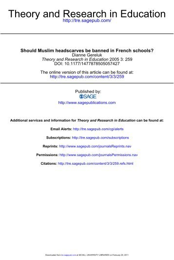 Should Muslim headscarves be banned in French ... - All Members