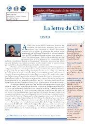 La Lettre n°13 - Centre d'Économie de la Sorbonne - Université ...