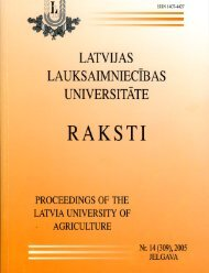 (Picea abies) audiu - Latvijas Lauksaimniecības universitāte