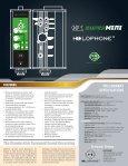 Holophone H4-Mini Spec Sheet - Advanced Audio - Page 2
