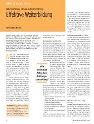 Effektive Weiterbildung (PDF) - Barbara Brecht-Hadraschek