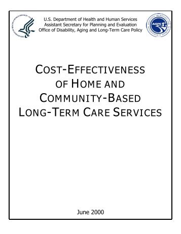 Cost-Effectiveness of Home and Community-Based Long-Term Care ...