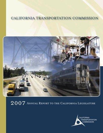 2007 Annual Report to the California Legislature