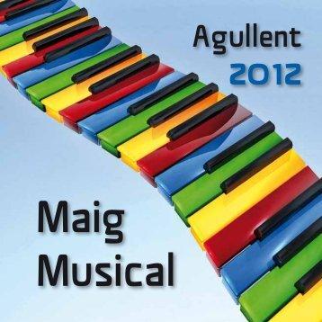 Programa del Maig Musical Agullent 2012